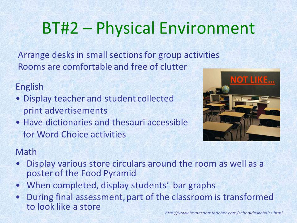 BT#2 – Physical Environment