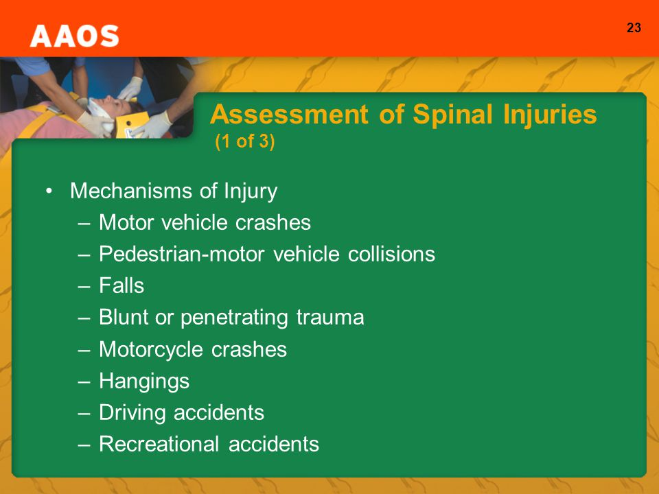 Assessment of Spinal Injuries (1 of 3)