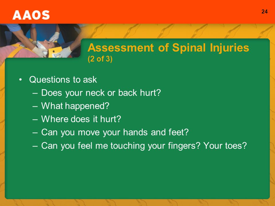 Assessment of Spinal Injuries (2 of 3)