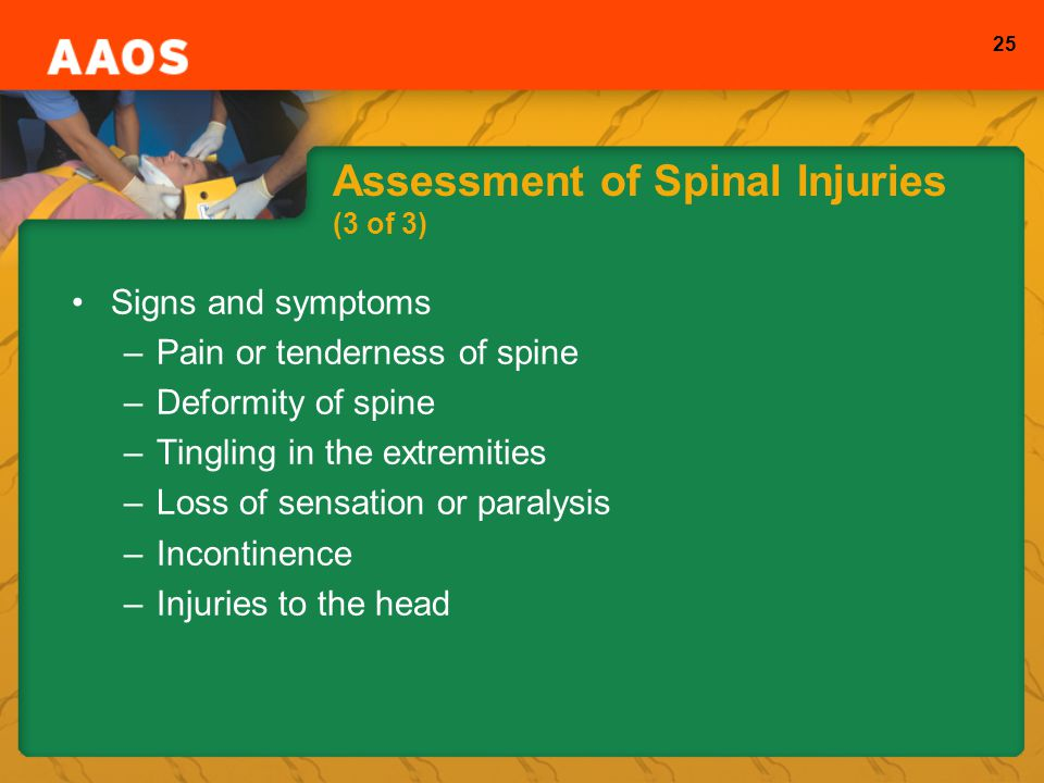 Assessment of Spinal Injuries (3 of 3)
