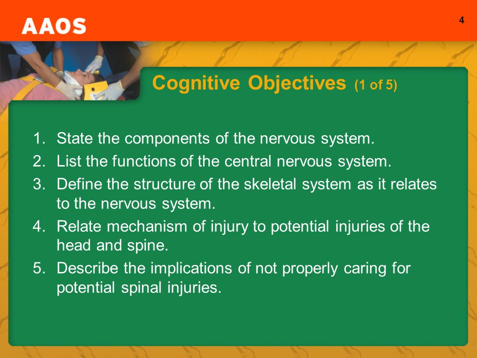 Cognitive Objectives (1 of 5)