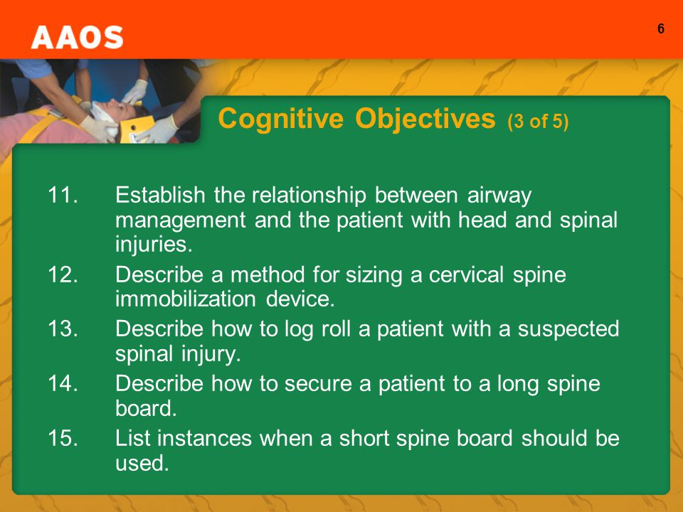 Cognitive Objectives (3 of 5)