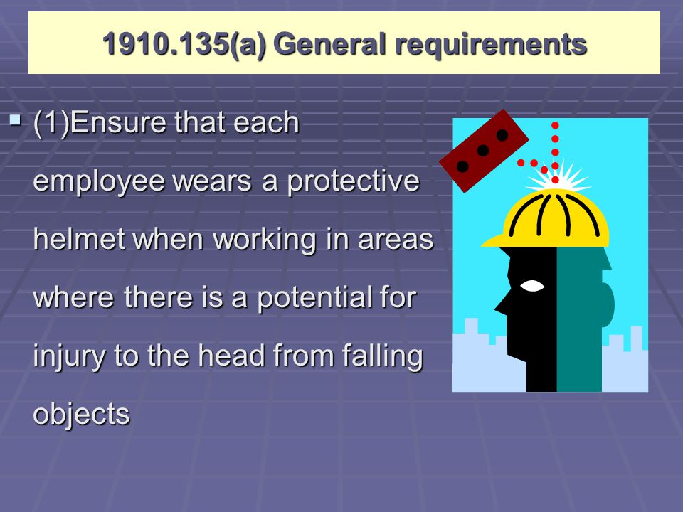 1910.135(a) General requirements