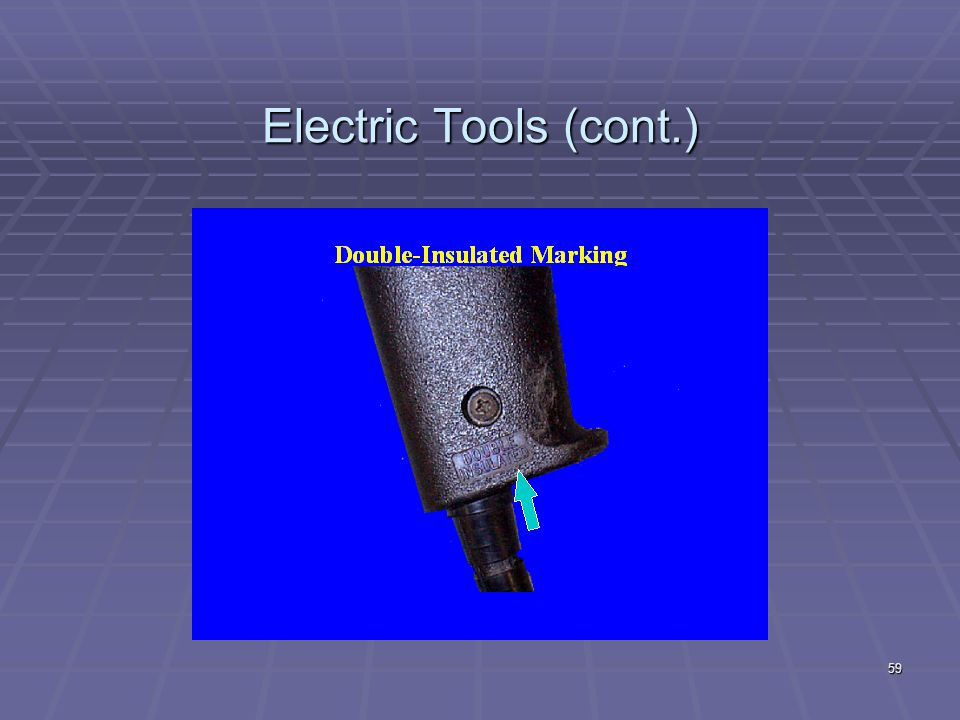 Electric Tools (cont.)