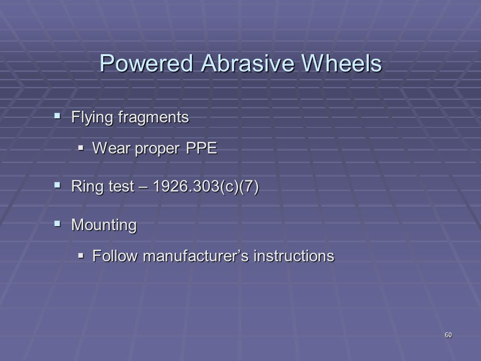 Powered Abrasive Wheels