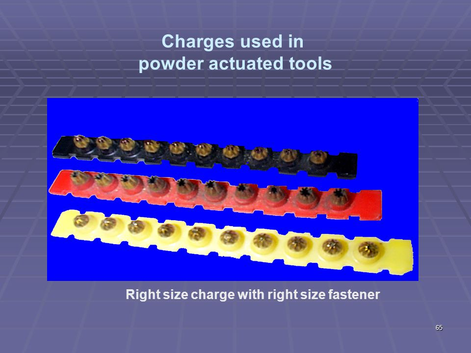 Charges used in powder actuated tools