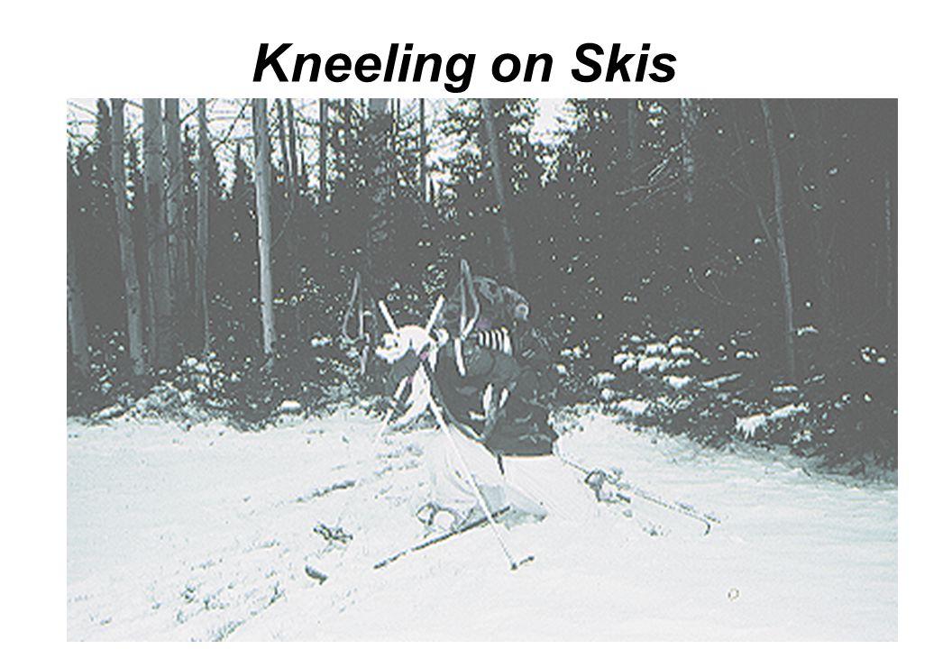 Kneeling on Skis Stance-