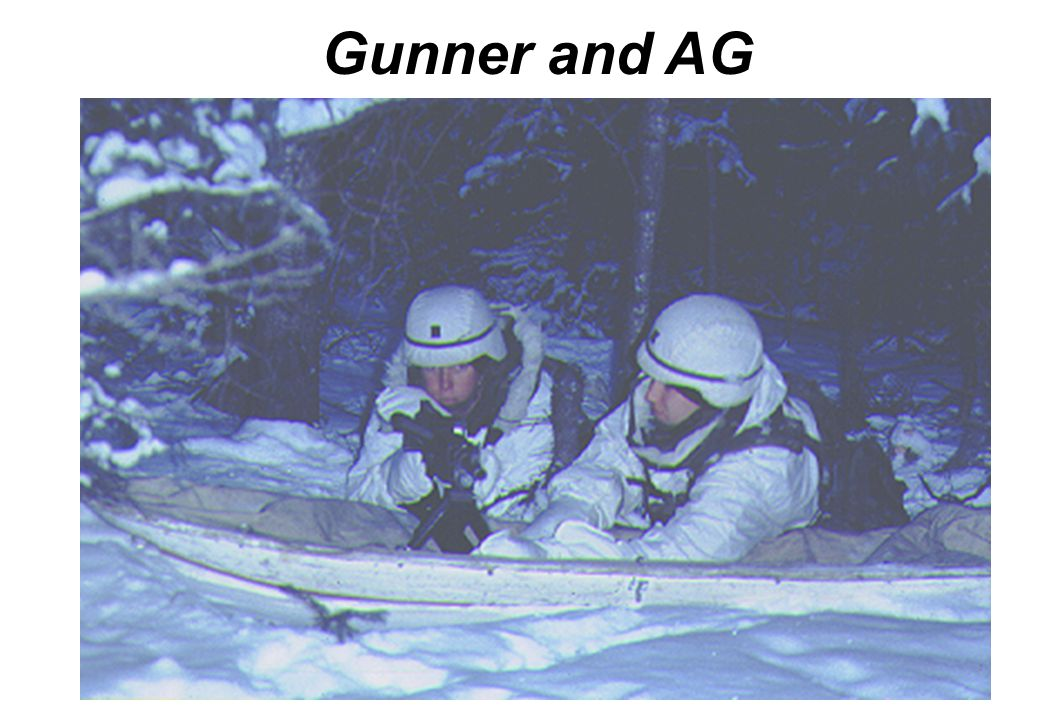 Gunner and AG Ahkio sleds can be used for support of crew served weapons.