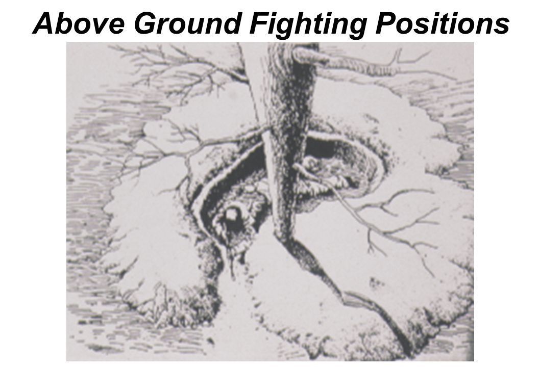 Above Ground Fighting Positions