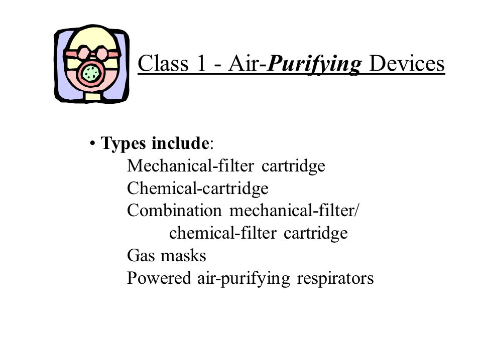 Class 1 - Air-Purifying Devices