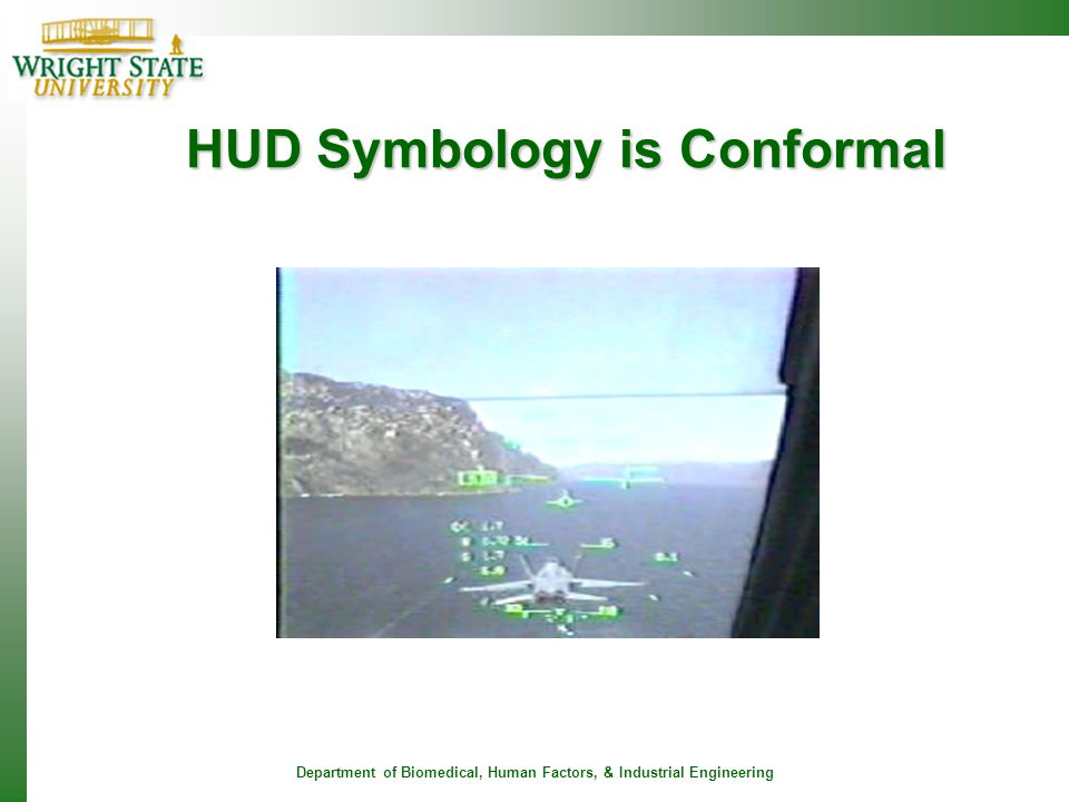 HUD Symbology is Conformal