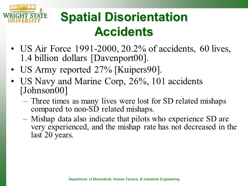 Spatial Disorientation Accidents