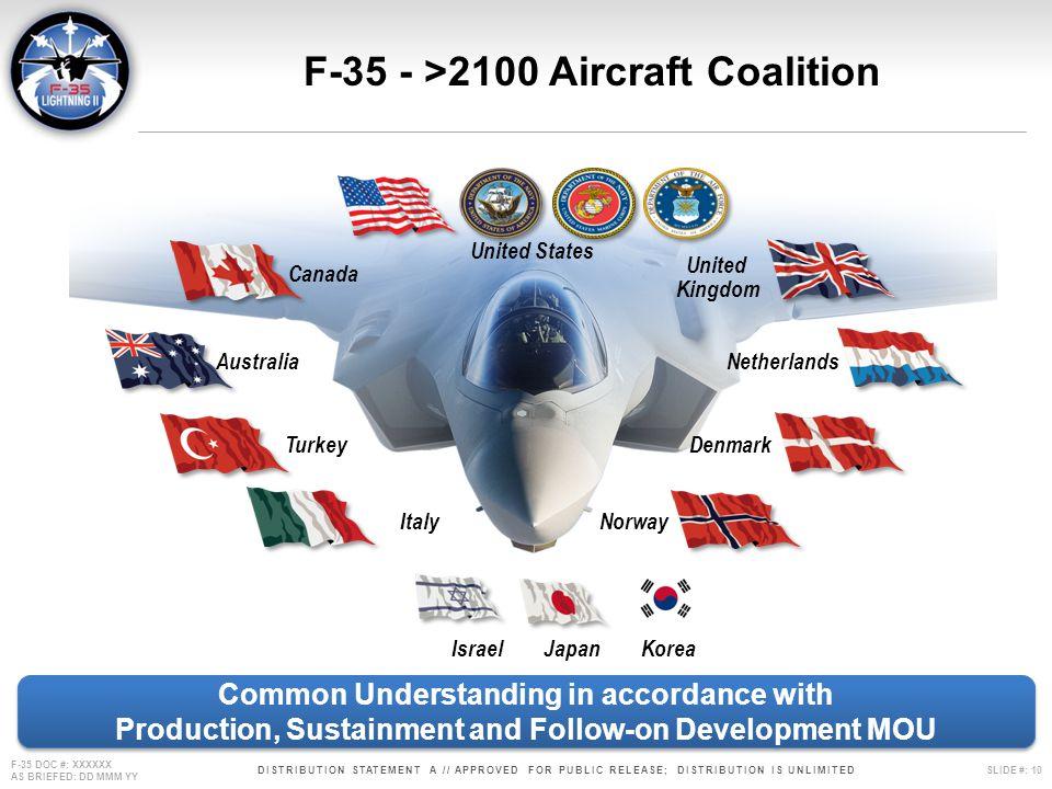 F-35 - >2100 Aircraft Coalition