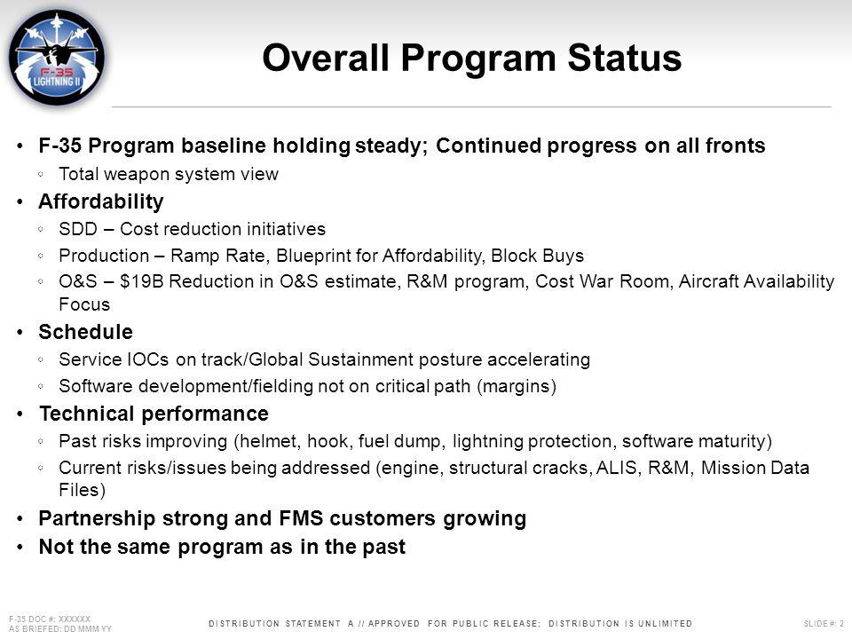 Overall Program Status