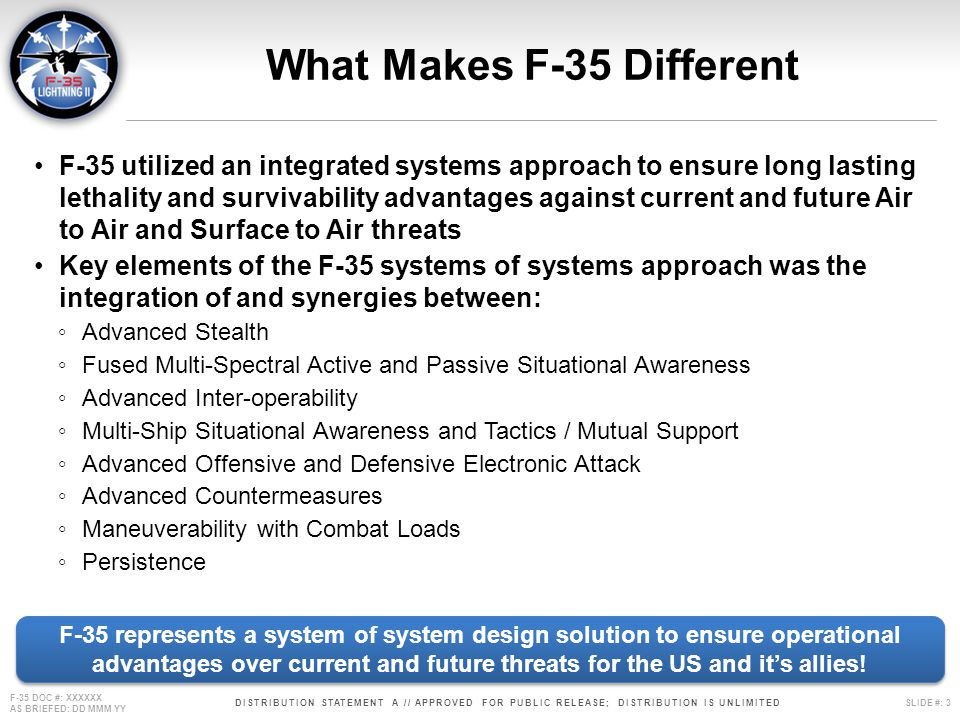 What Makes F-35 Different