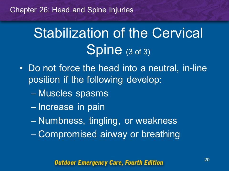 Stabilization of the Cervical Spine (3 of 3)