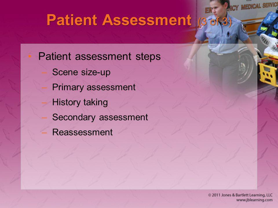 Patient Assessment (3 of 3)