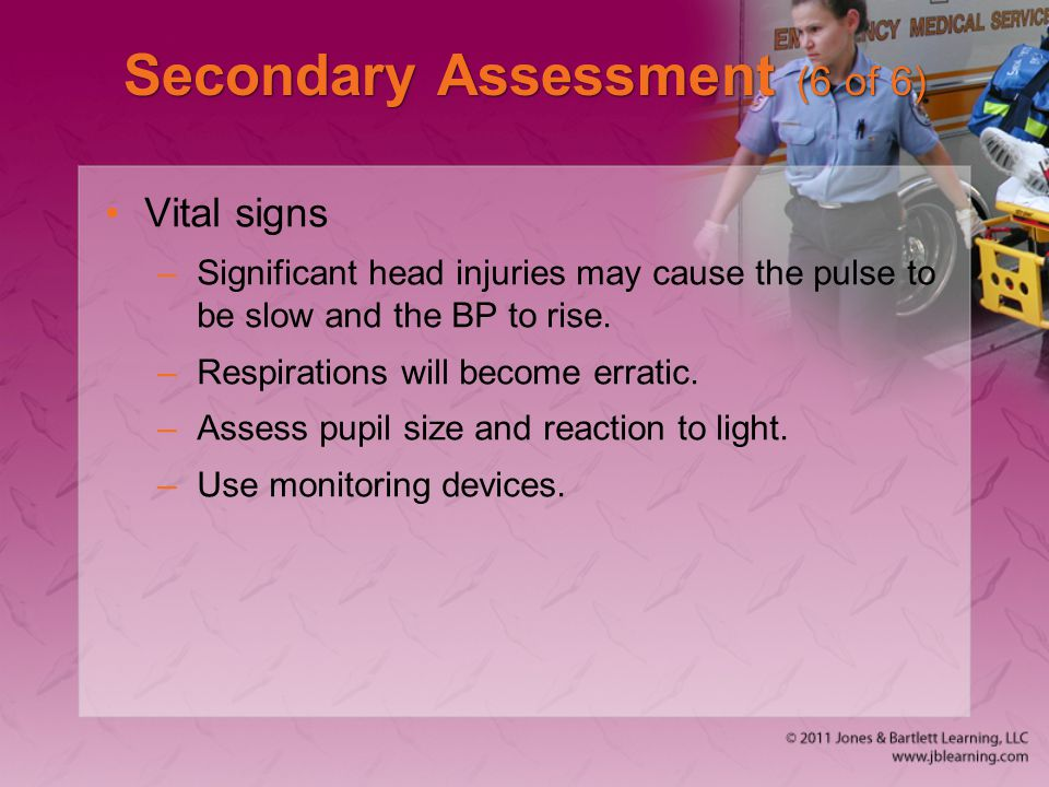 Secondary Assessment (6 of 6)