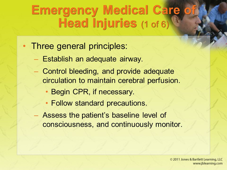 Emergency Medical Care of Head Injuries (1 of 6)