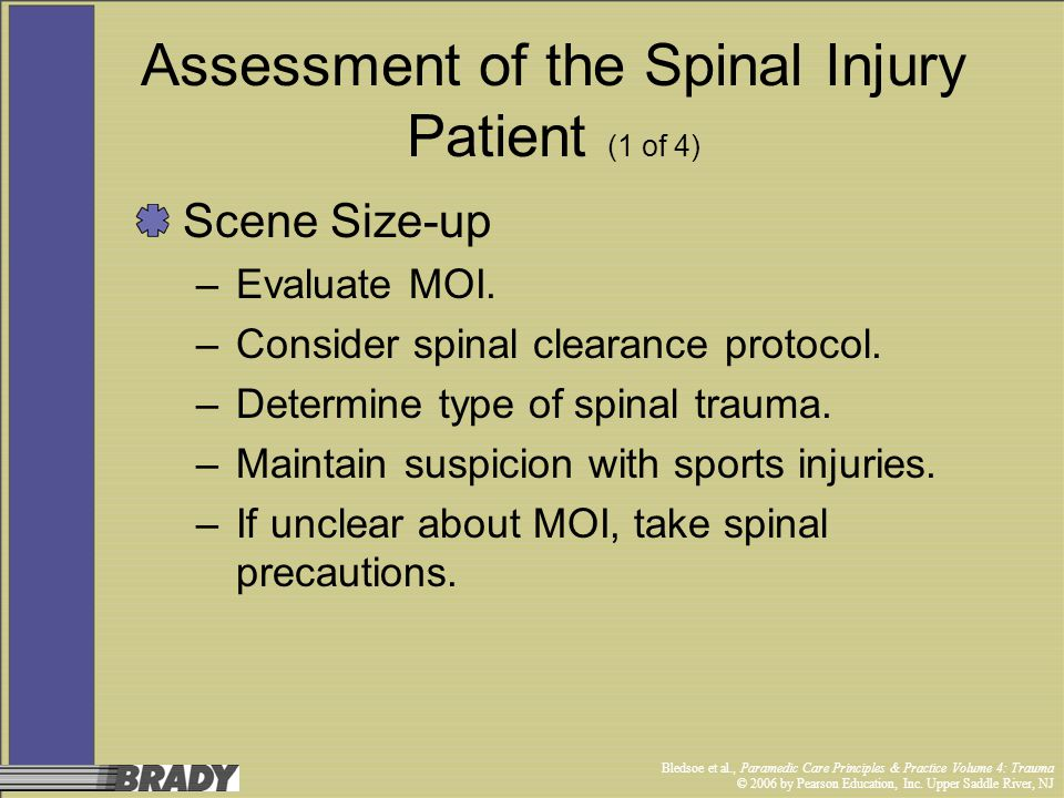 Assessment of the Spinal Injury Patient (1 of 4)