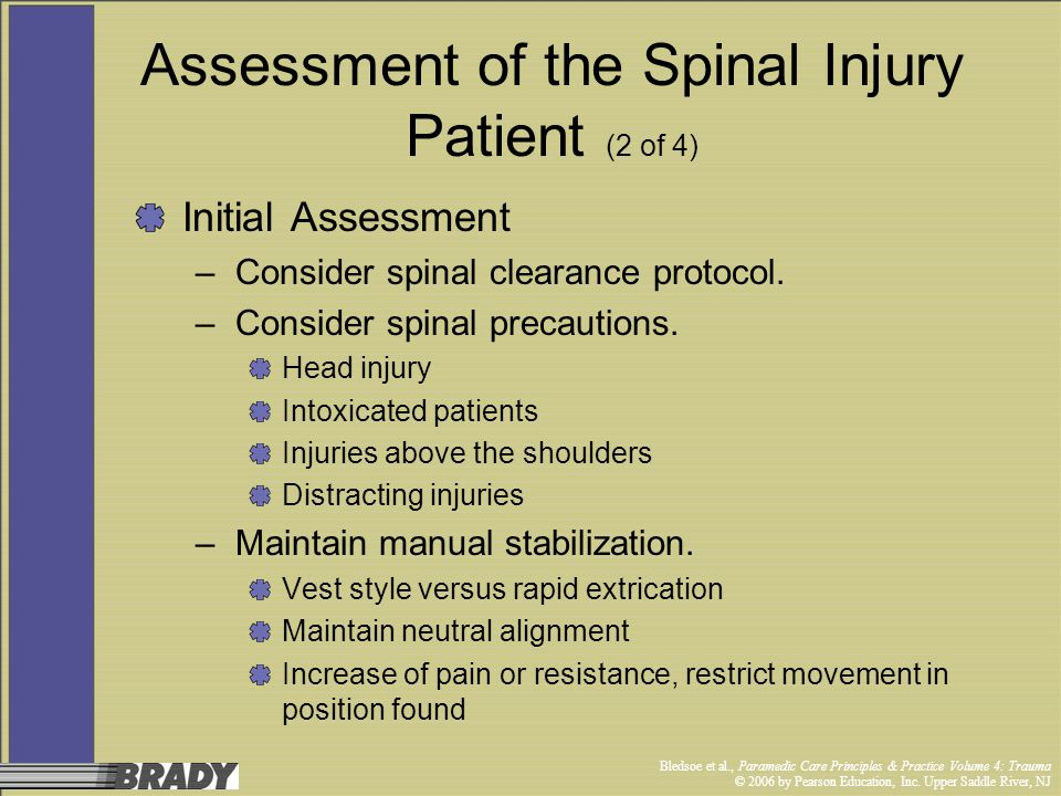 Assessment of the Spinal Injury Patient (2 of 4)