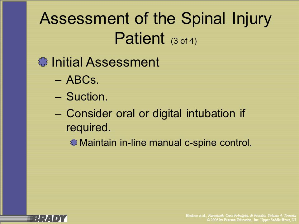 Assessment of the Spinal Injury Patient (3 of 4)
