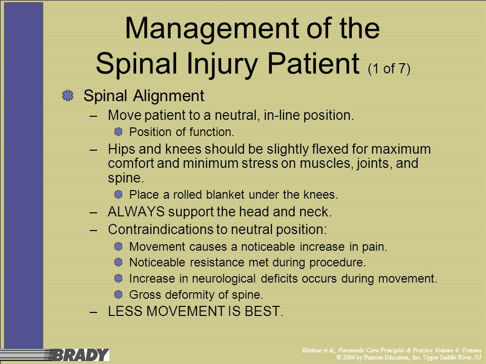 Management of the Spinal Injury Patient (1 of 7)