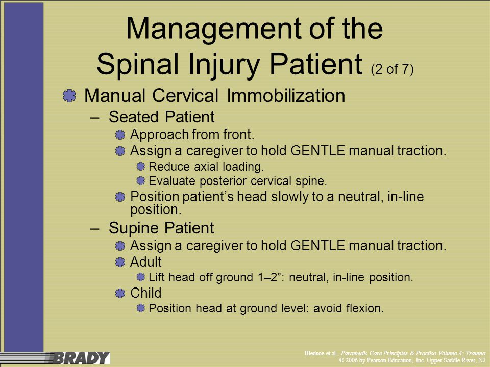 Management of the Spinal Injury Patient (2 of 7)