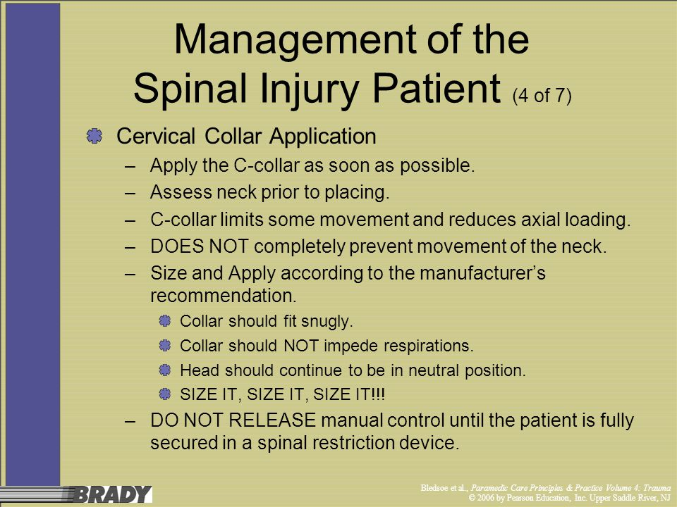 Management of the Spinal Injury Patient (4 of 7)