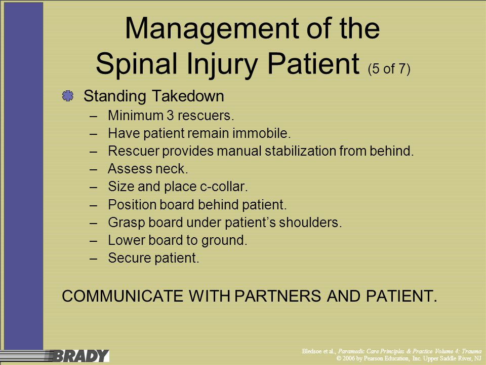 Management of the Spinal Injury Patient (5 of 7)