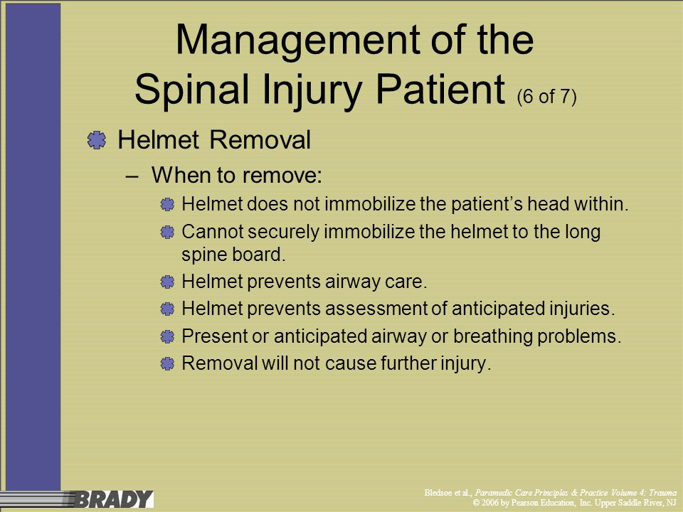Management of the Spinal Injury Patient (6 of 7)