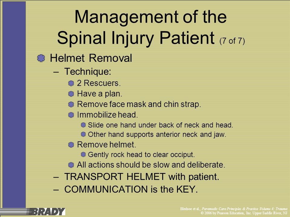 Management of the Spinal Injury Patient (7 of 7)