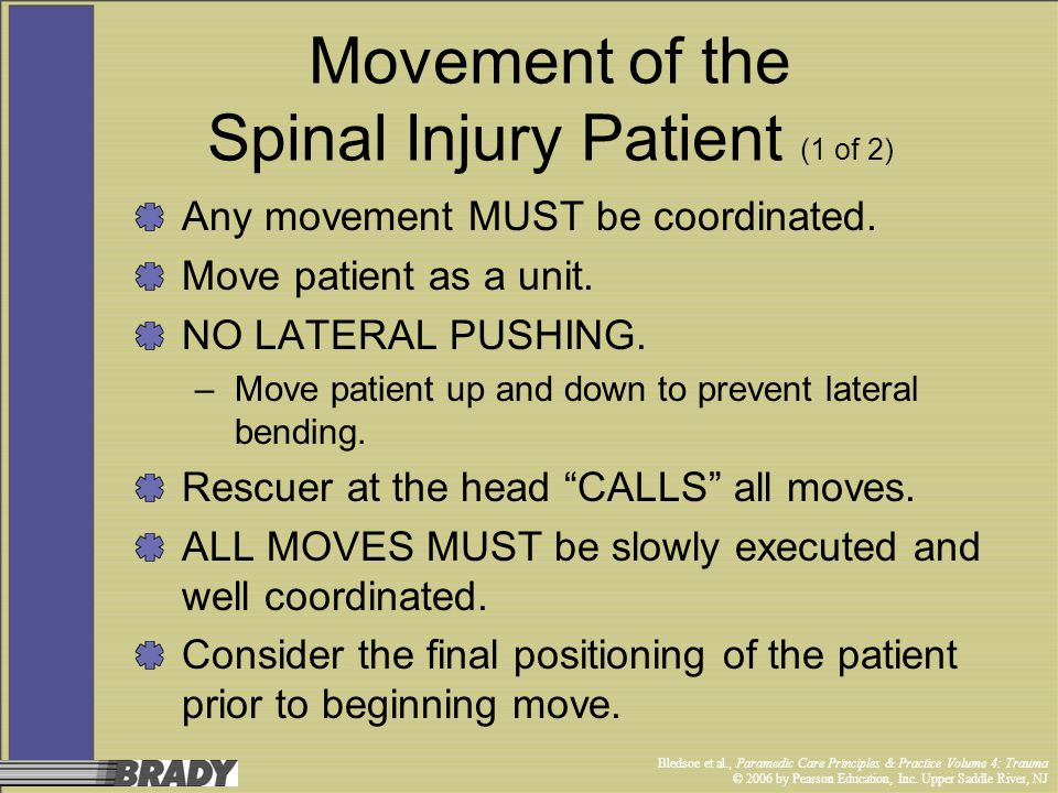 Movement of the Spinal Injury Patient (1 of 2)