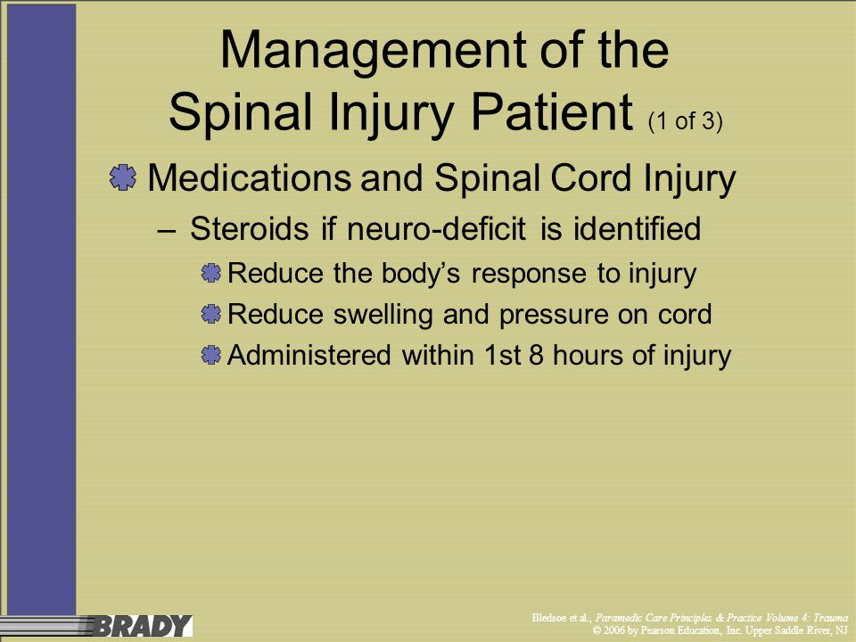 Management of the Spinal Injury Patient (1 of 3)
