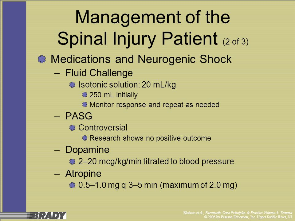 Management of the Spinal Injury Patient (2 of 3)