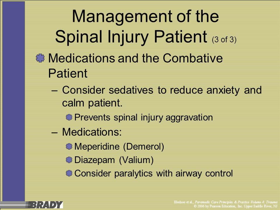 Management of the Spinal Injury Patient (3 of 3)