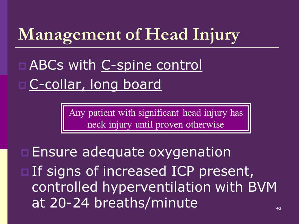 Management of Head Injury