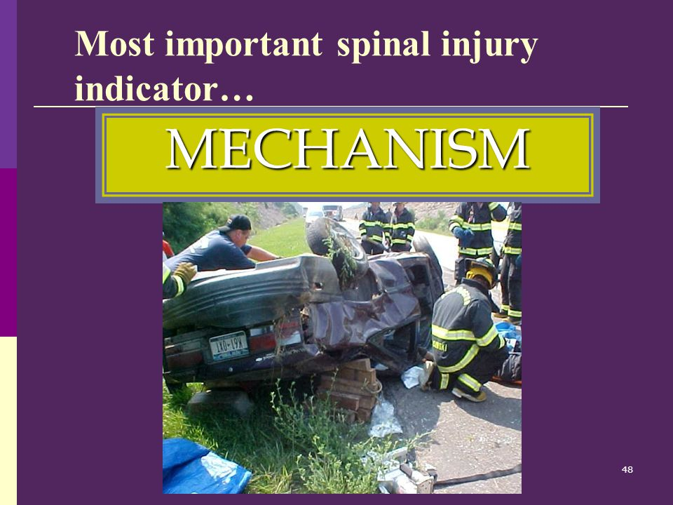 Most important spinal injury indicator…
