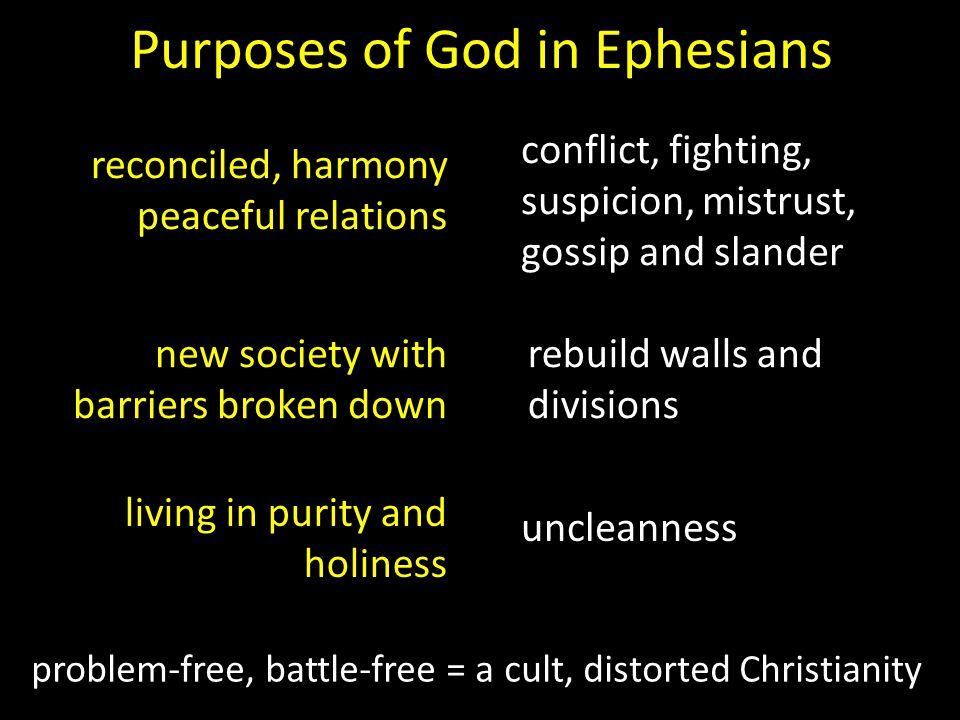 Purposes of God in Ephesians
