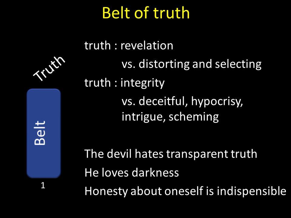 Belt of truth Truth Belt truth : revelation