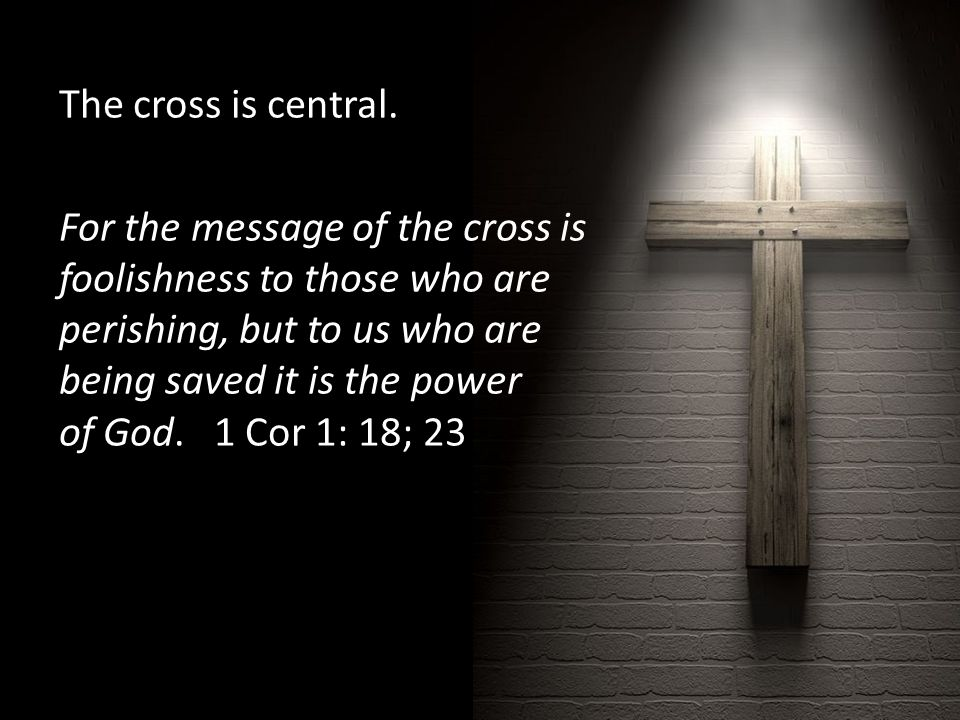The cross is central.