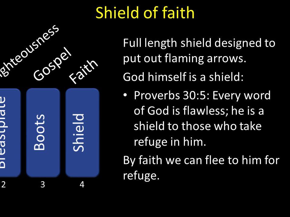Shield of faith Gospel Faith Breastplate Boots Shield Righteousness