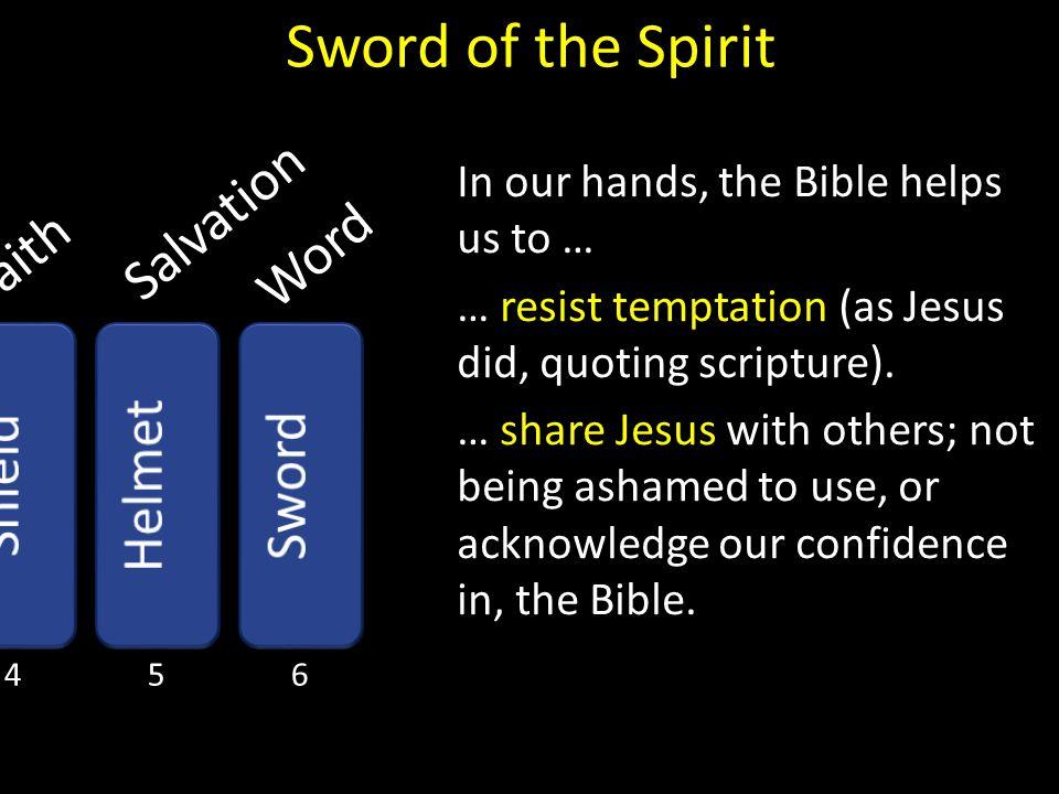 Sword of the Spirit Salvation Word Faith Helmet Shield Sword
