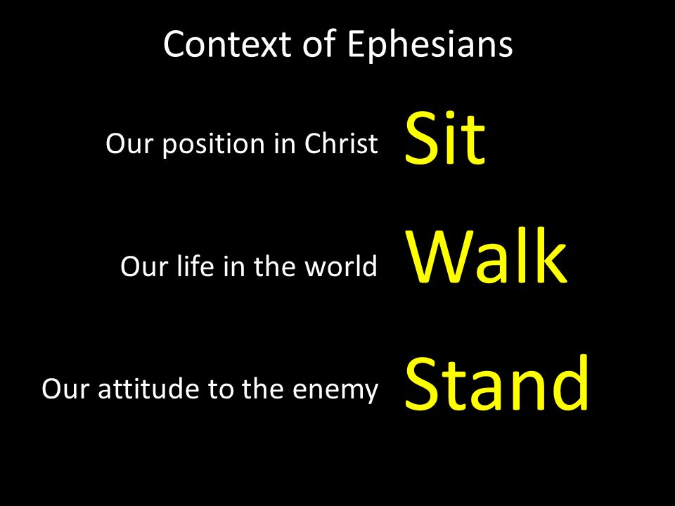 Sit Walk Stand Context of Ephesians