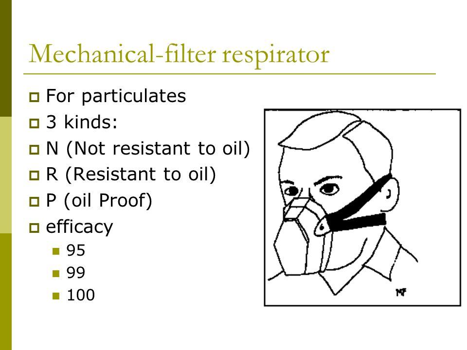 Mechanical-filter respirator