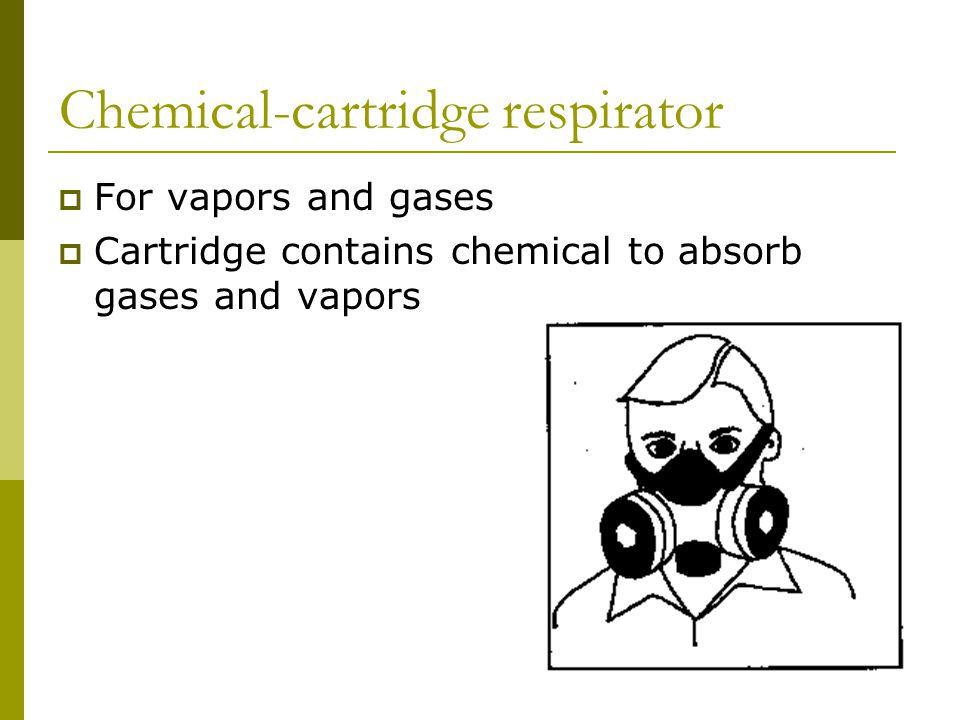 Chemical-cartridge respirator
