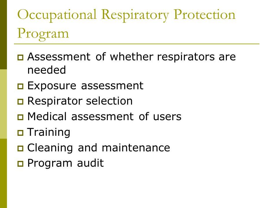 Occupational Respiratory Protection Program