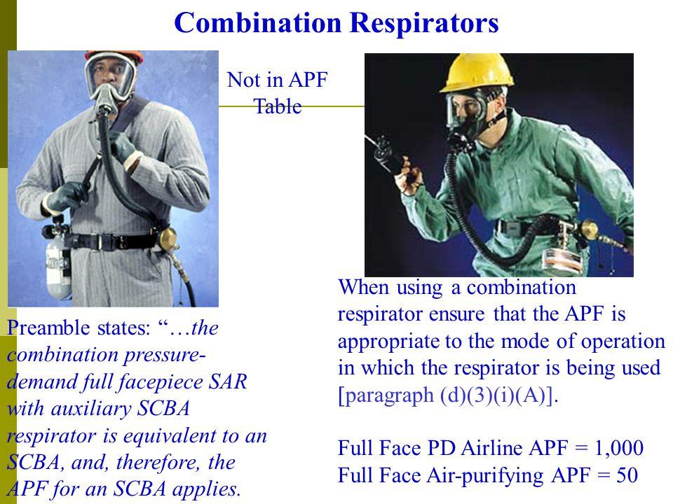 Combination Respirators