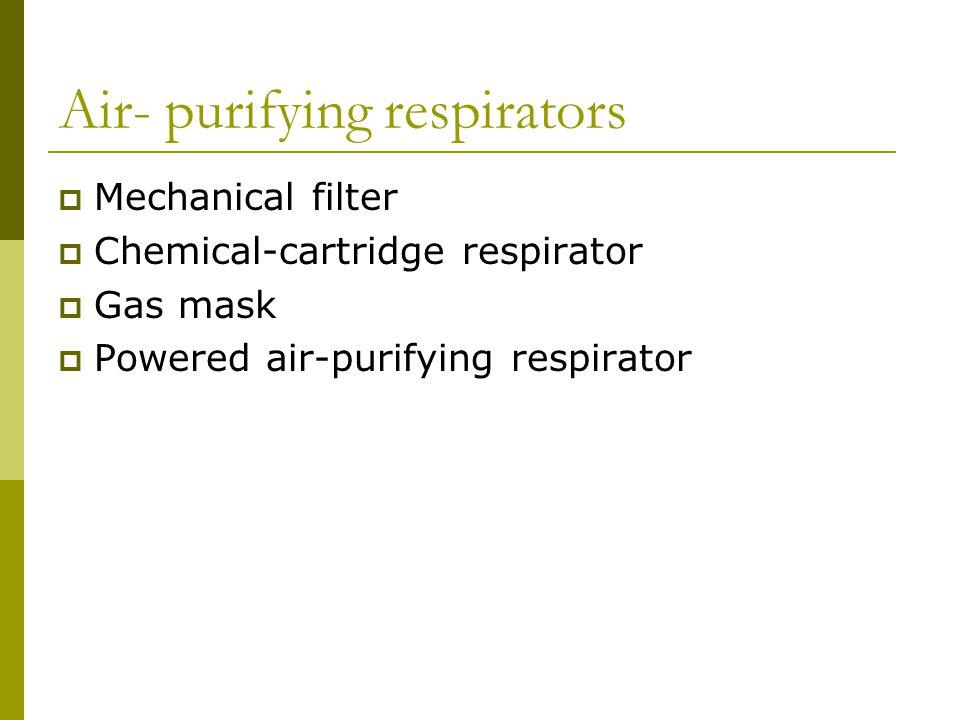 Air- purifying respirators