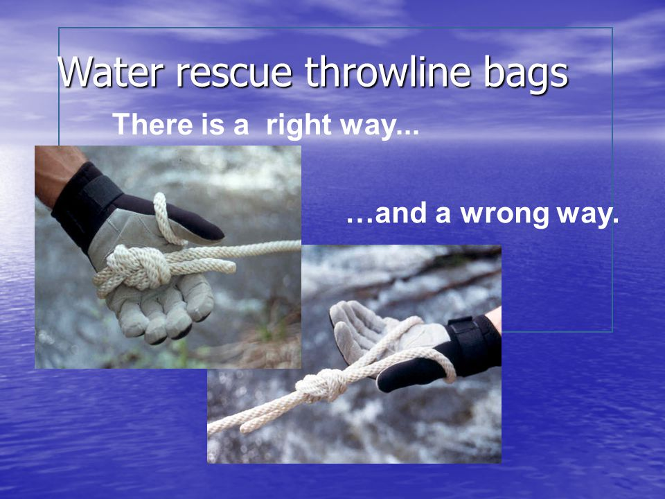 Water rescue throwline bags